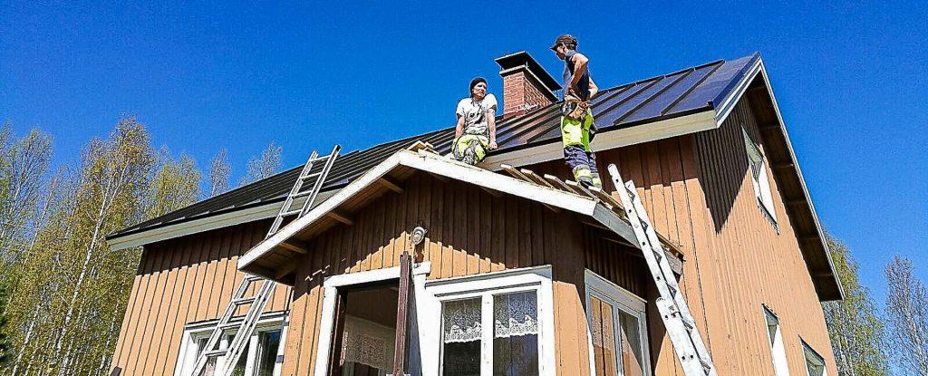 Katonteko, uusi katto valmiina. Rakennuspalvelu Aula